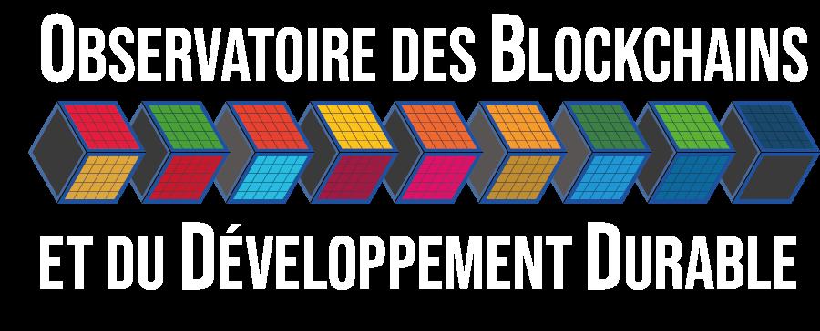 L\'Observatoire des blockchains et du développement durable